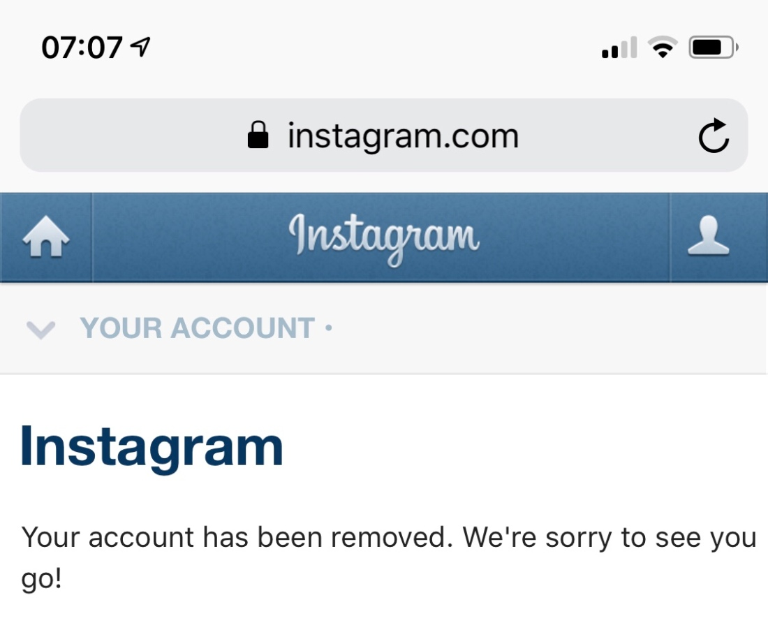 How to delete your instagram account lee peterson i deleted my instagram account a while ago but in the last couple of months i missed seeing some of the design accounts i followed ccuart Choice Image